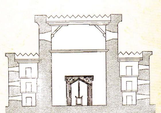 Reconstructia Templului lui Solomon. Sectiune