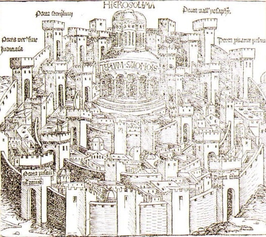 Templul lui Solomon (desen de Hartman Schedel)