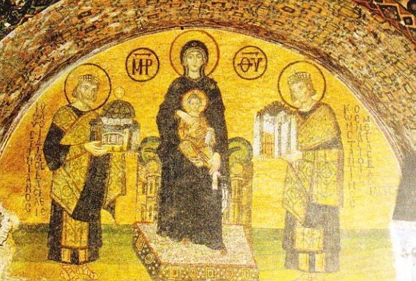 Mozaicul Fecioarei Maria in Catedrala Sfanta Sofia