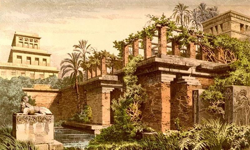 Gradinile Suspendate din Babilon (pictura de Ferdinand Knab)