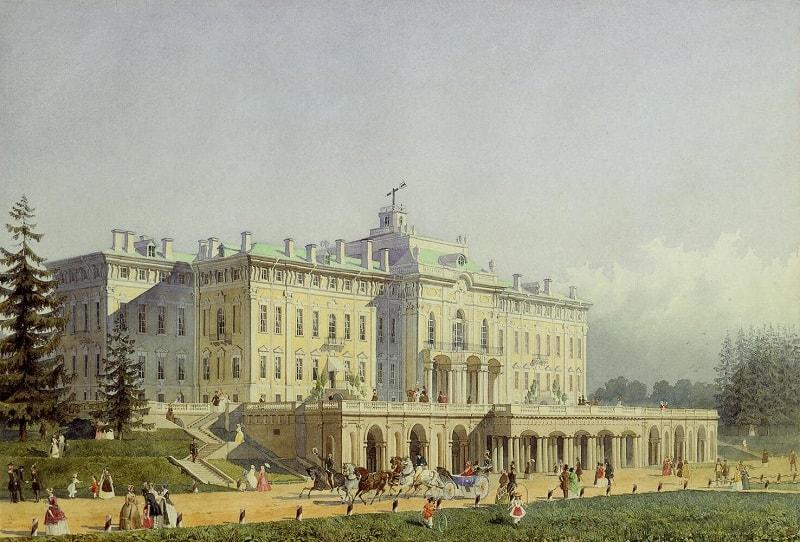 pictura cu palatul Strelna
