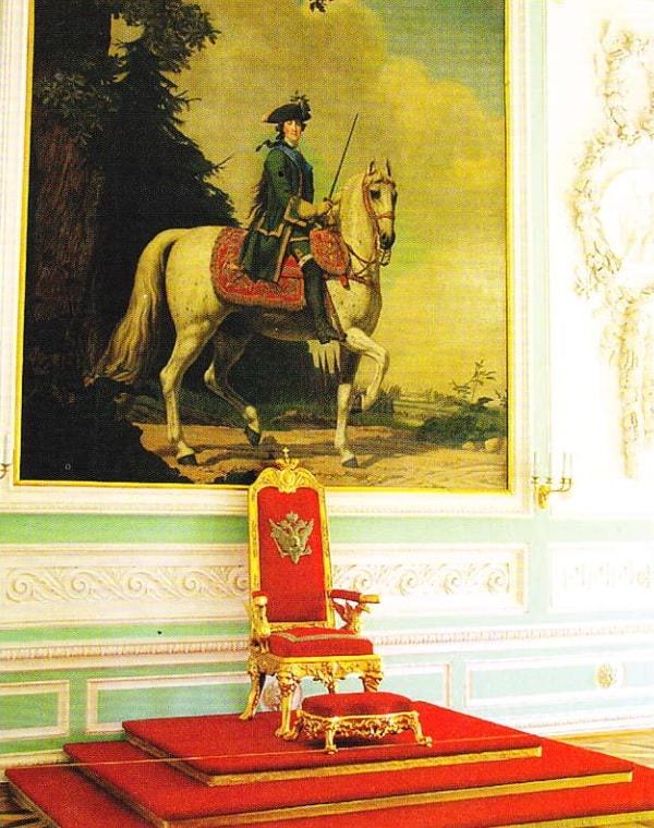 Sala Tronului din marele palat de la Peterhof