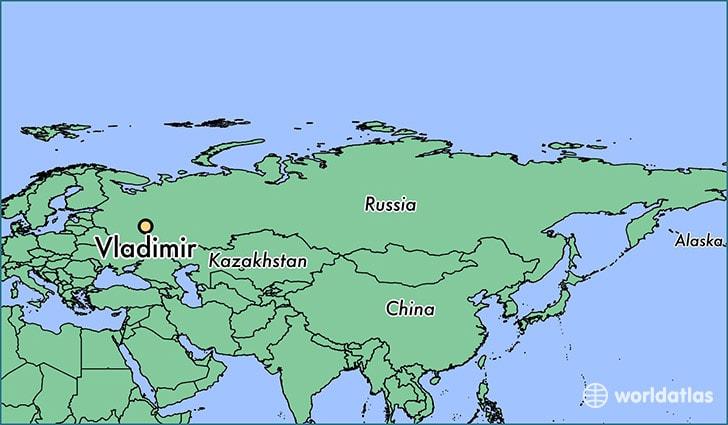 orasul Vladimir, Rusia - harta