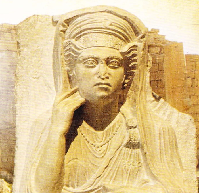 zeitate sculptata din Palmyra