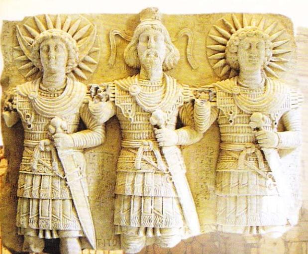 Trei zeitati ale Palmyrei