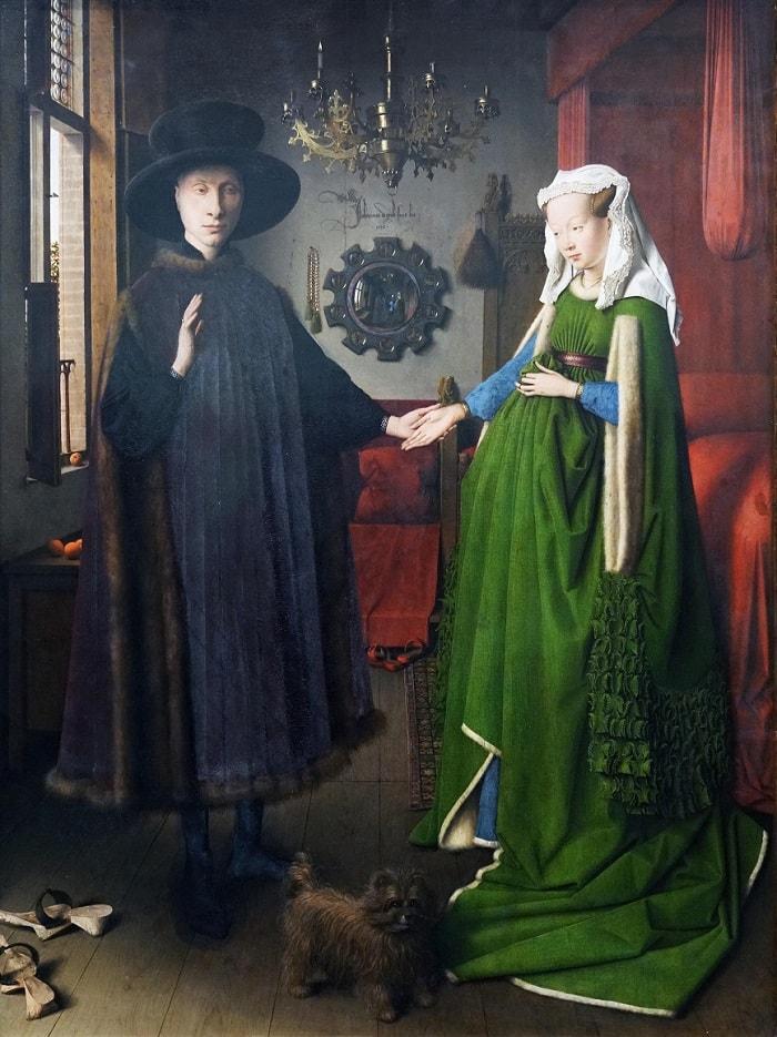 """Giovanni Arnolfini si mireasa lui"" - tablou de    Jan Van Eyck"