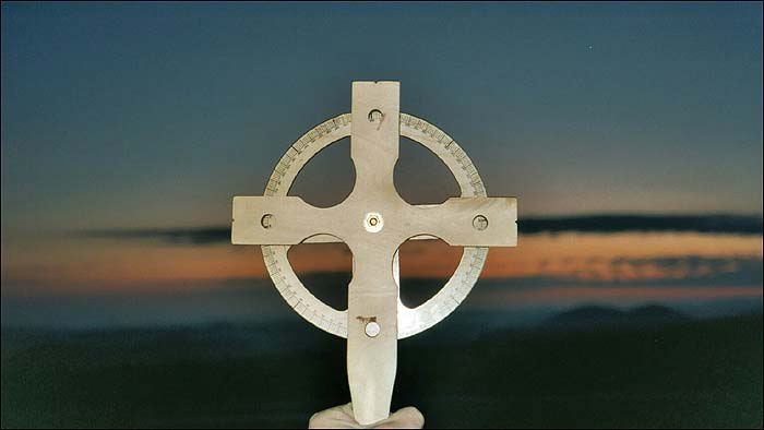 Instrumentul de navigare, identic cu o cruce antica celtica