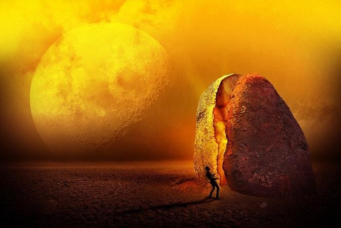 roca pe luna
