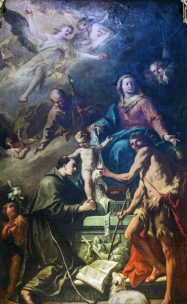 Sfantul Anton primind darul Sfinteniei