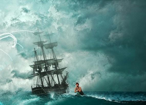 Sirena si o corabie