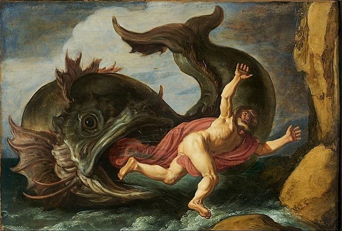 Iona si Balena - tablou sec XVII-lea - Pieter Lastman
