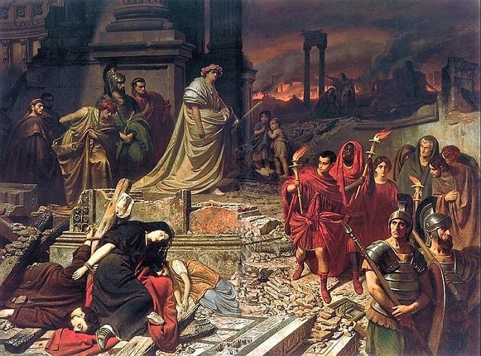 Nero ajuns in Capitala (tablou de Carl Theodor von Piloty)