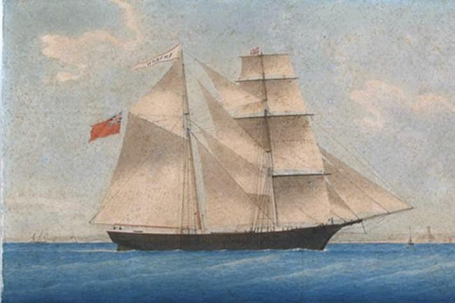 Vasul Mary Celeste - Pictura din anul 1861