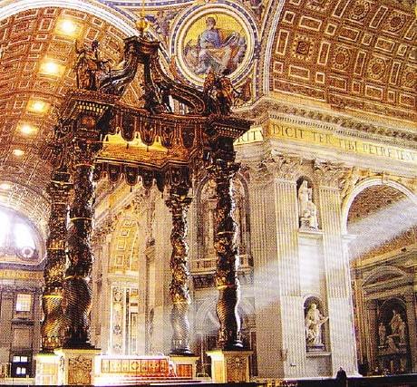 Baldachinul Bernini (in interiorul Catedralei Sfantul Petru), Vatican
