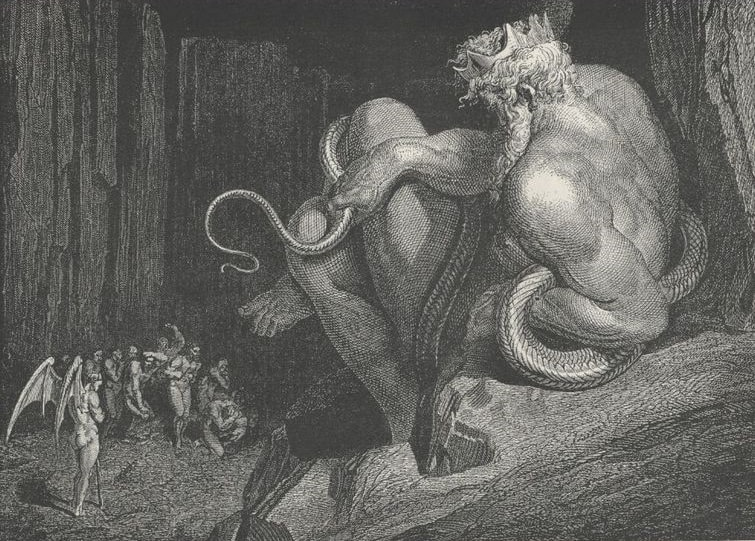 Regele Minos (Desen de Gustave Dore)