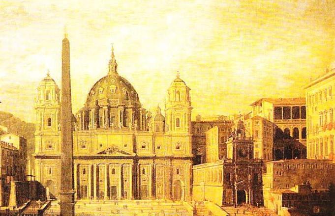 """Tablou """"Catedrala Sfantul Petru"""" (Viviano Codazzi, 1630)"""