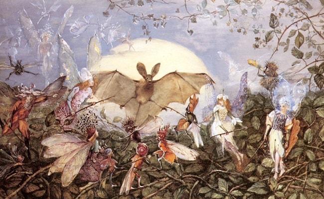 Zane atacand un liliac - tablou e John Fitzgerald