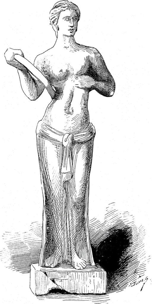 Femeie din Imperiul Roman dezbracandu-se de apodesma