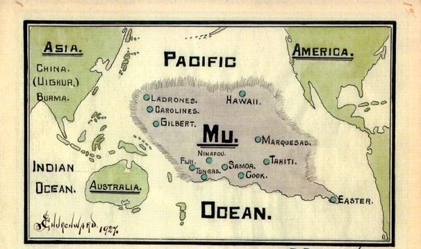 Harta a continentului Mu