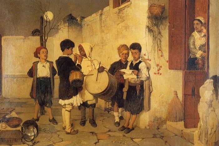 Copii cantand colinde (Tabou de Nikiforos Lytras)