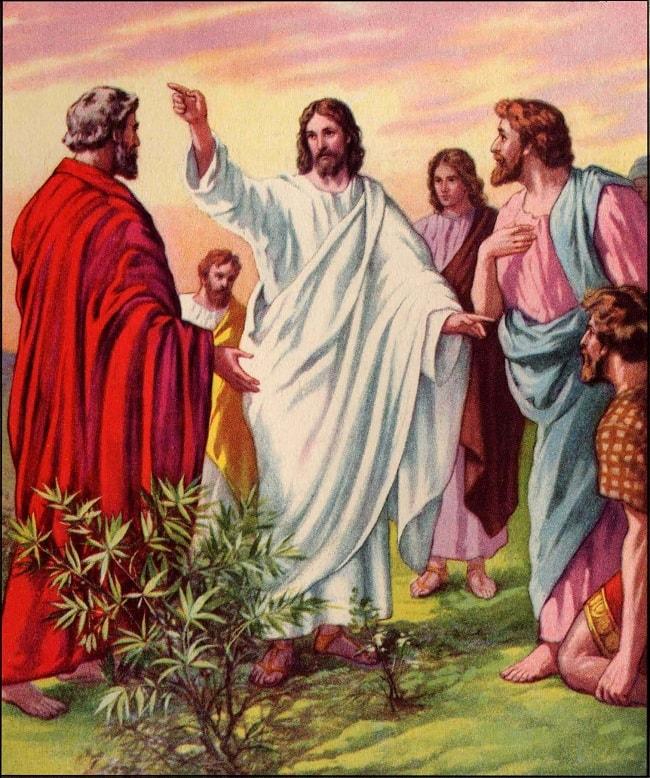Iisus indrumand apostolii sa povatuiasca crestinismul in lume