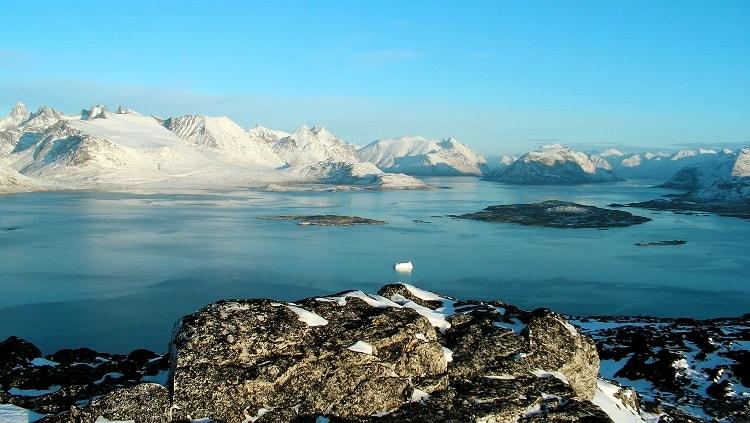 Peisaj din Groenlanda