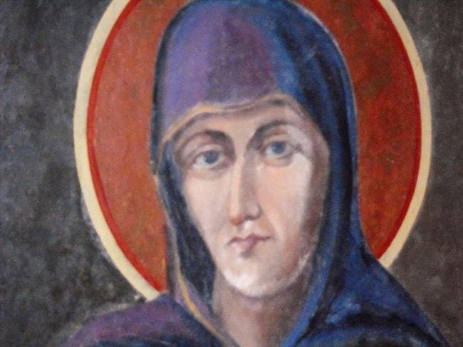 Pictura Sfanta Parascheva - de Costache Petrescu (1852)