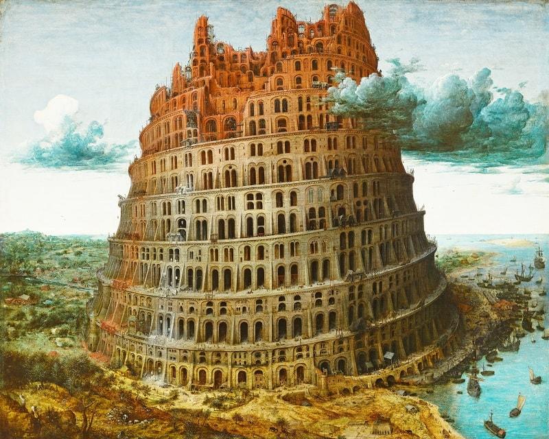 Turnul Babel - Tablou de Bruegel cel Bătrân