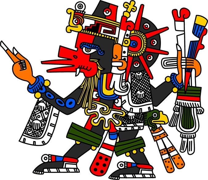 Desen al zeului Quetzalcoatl