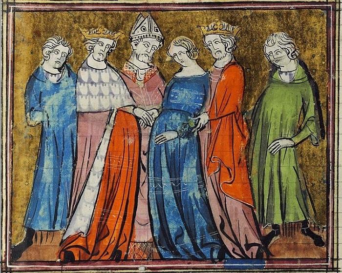 Casatoria dintre Arthur si Guenievre (pictura din 1325)