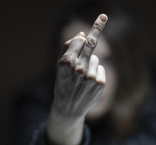 subțire în jos degetele)