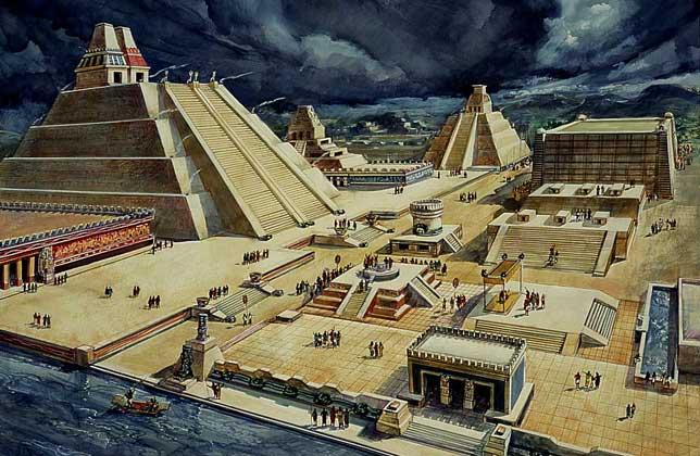 Orasul Tenochtitlan reconstruit imagistic