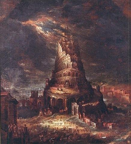Turnul Babel ajungand la cer - Tablou de Hans Bol