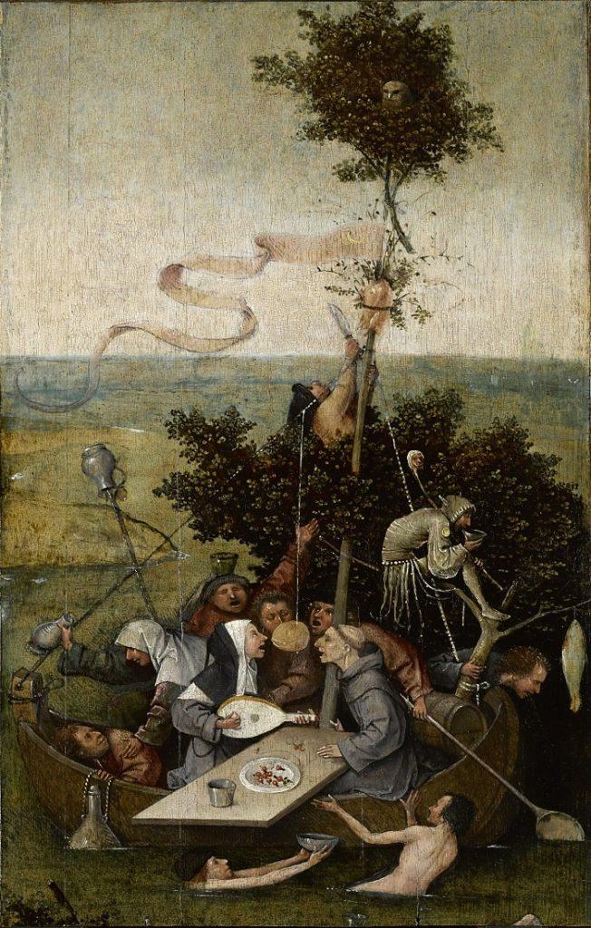 """""""Corabia Nebunilor"""" - tablou de Hieronymus Bosch"""
