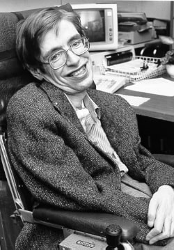 Stephen Hawking tinerete - poza alb-negru