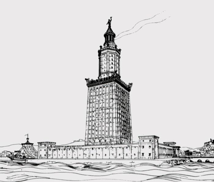 Desen al Farului din Alexandria