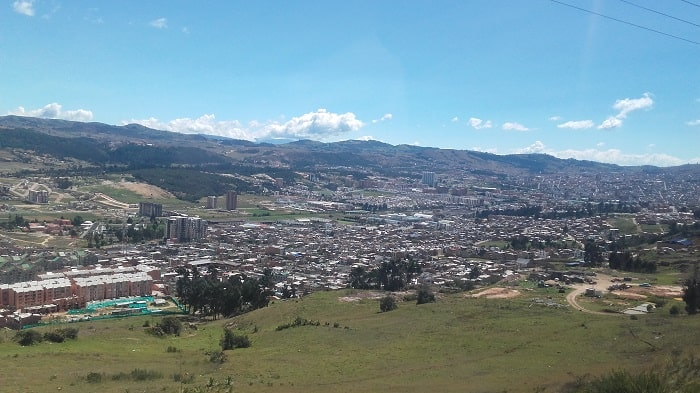 Orasul Tunja - Capitala districtului din zilele noastre Boyaca