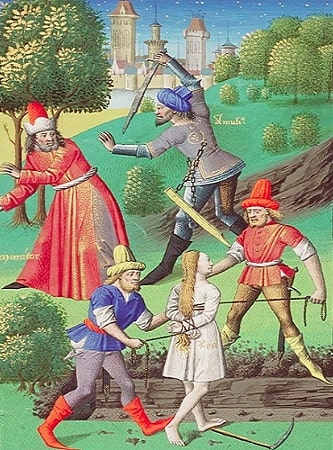 Amulius incercand sa-l ucida pe Numitor si in acelasi timp s-o oblige pe Ilia sa fie vestala