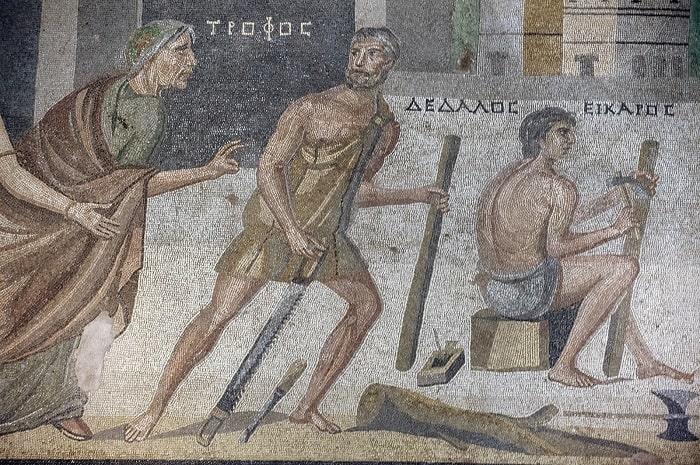 Dedal in timpul mestesugariei