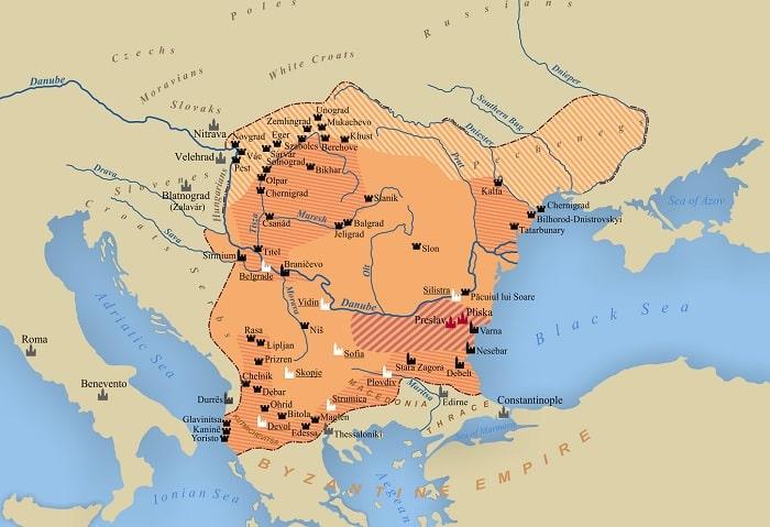 harta imperiului romano-bulgar