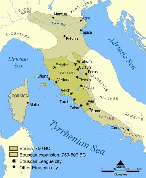 Locul in care s-au stabilit etruscii