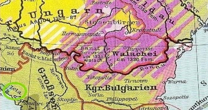 Harta a regiunii de unde provin vlahii