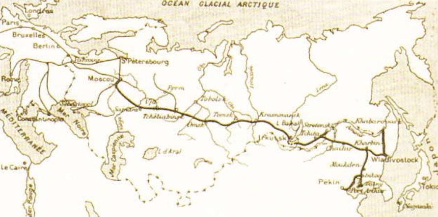 Calea ferata transsiberiana (Schemă)