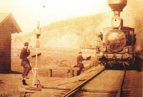 Calea ferată transsiberiană. Partea vestică a stației Hilok. Regiunea Cita. (Poză din anul 1903)