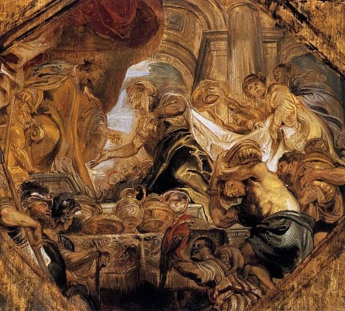 Regele Solomon primind-o pe Regina din Saba (Tablou de Rubens)