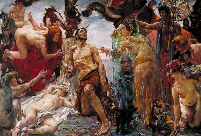 """""""Tentația Voluptoasă"""" - Sfântul Antoniu tentat de Regina din Saba - (Pictură de Flaubert)"""