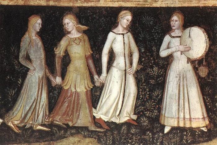 Femeia în Evul Mediu (Tablou de Andrea di Bonaiuto - 1366)
