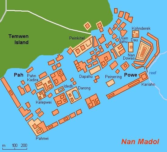 Harta ruinelor din Nan Madol