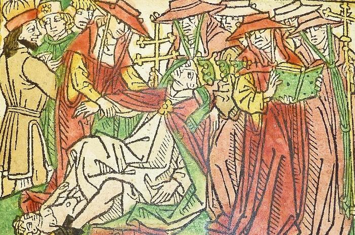 Momentul deconspirării papesei Ioana (Ioan)