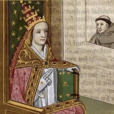 Prima femeie papă a ascuns zeci de ani faptul că este femeie
